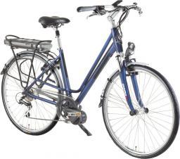 Devron Miejski rower elektryczny Wellington 28024 Kolor niebieski-czarny, Rozmiar ramy 19,3