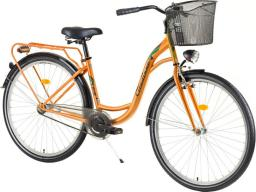 DHS Rower miejski Citadinne 2632 26'' - model 2017 Kolor Pomarańczowy, Rozmiar ramy 17