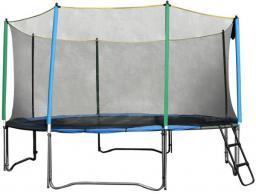 inSPORTline Trampolina z siatką zabezpieczającą i drabinką Top Jump 366cm (TJ1338)