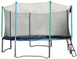 inSPORTline Trampolina z siatką zabezpieczającą i drabinką Top Jump 244cm  (TJ759)