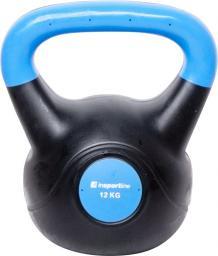 inSPORTline Hantla bitumiczna Kettlebell Dark 12 kg (10740)