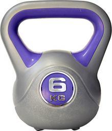 inSPORTline Hantla 6kg Kettlebell srebrno-niebieski (1948)