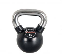 inSPORTline Hantla gumowana Kettlebell 6 kg (5422)