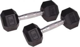 inSPORTline Hantla sześciokątna 5 kg czarno-srebrna (1182)