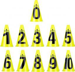 inSPORTline Zestaw pachołki treningowe Numeric 23 cm 11 sztuk (13205)
