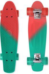 Deskorolka Street Surfing Penny board deskorolka fiszka Beach Kolor Color Vision, czerwono-zielony