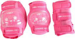 WORKER Zestaw sześciu ochraniaczy Kinder Kolor Różowy, Rozmiar L