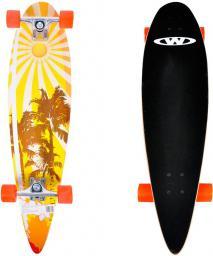 Deskorolka WORKER Deskorolka Longboard SurfBay czarno-pomarańczowa  (6610)