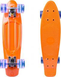 """Deskorolka WORKER Deskorolka Fiszka Penny board Sturgy 22"""" ze świecącymi kółkami Kolor pomarańczowy (13186-3)"""
