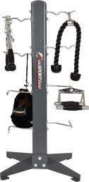inSPORTline Stojak na akcesoria fitness do sali fitness AR01 szary (7252)