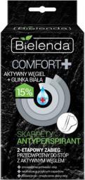 Bielenda Comfort + Zabieg 2-etapowy do stóp z aktywnym węglem - skarpety antyperspirant  1op.