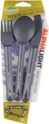 SEA TO SUMMIT Zestaw sztućców Alpha Light Cutlery Set 3pc szary (ACUTALSET3/UNI/UNI)