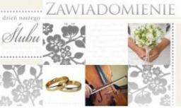 KUKARTKA Zawiadomienie ślubne (PMZ-026)