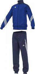 Adidas Dres treningowy Sereno 14 Junior Niebiesko-czarny, Rozmiar 116 (F49716*116)