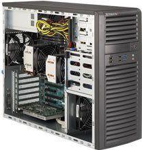 "Obudowa serwerowa SuperMicro Mid-Tower, 4x 3.5"" internal tool-less HDD bays w/ 2x Xeon E5-2600 support, C602 - SYS-7037A-I"