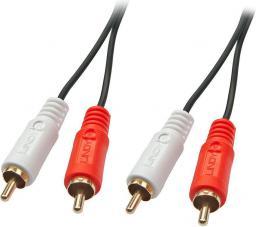 Kabel Lindy RCA (Cinch) x2 - RCA (Cinch) x2 1m czarny (35660)