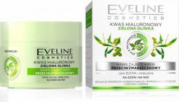 Eveline Kwas hialuronowy + zielona oliwka nawilżający krem przeciwzmarszczkowy na dzień i na noc 50ml