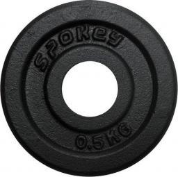 Spokey Spokey SINIS - Obciązenie żeliwne 0.5 kg kolor czarny FI 29 (84416)