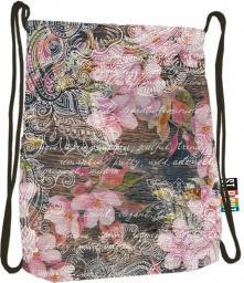 St. Majewski Plecak na sznurkach Stright SO-11 Flowers Pink