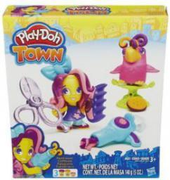 Hasbro Play-Doh Town B5973 Fryzjer i szalona papuga