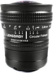 Obiektyw Lensbaby 5.8mm f/3.5 Fisheye (LBCFEX)