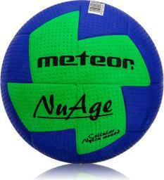 Meteor Piłka ręczna Nuage Junior niebiesko-zielona r. 1 (04064)
