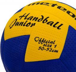 Meteor Piłka ręczna Nuage Junior Niebiesko-żółta r. 1  (04063)