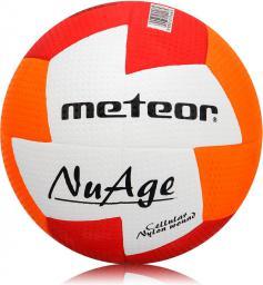 Meteor Piłka ręczna Nuage Junior czerwono-pomarańczowa r. 1 (04065)