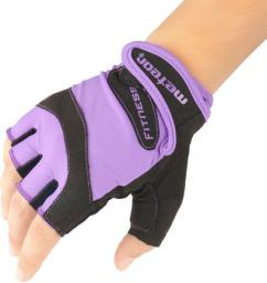 Meteor Rękawice kulturystyczne  Grip Lady Violet fioletowo-czarne r. M (32037)