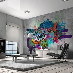 Artgeist Fototapeta - Graffiti eye 350x245