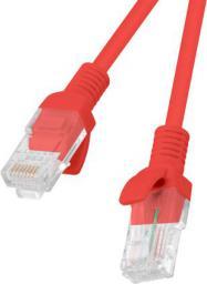 Lanberg Patchcord, Cat5e, nieekranowany, 0.25m, czerwony (PCU5-10CC-0025-R)
