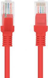Lanberg Patchcord, Cat5e, nieekranowany, 0.5m, czerwony (PCU5-10CC-0050-R)
