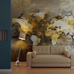Artgeist Fototapeta - Artystyczna mapa świata 200x154