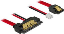 Delock Przewód SATA 6 Gb/s,7pinowy wtyk + 2-pinowy wtyk zasilania - 22-pinowe SATA (85242)