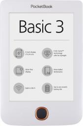 Czytnik PocketBook Basic 3 biały (PB614W-2-D-WW)