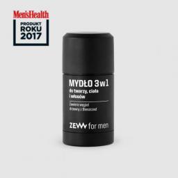 Zew for Men Mydło 3w1 do twarzy, ciała i włosów zawiera węgiel drzewny z Bieszczad 85ml