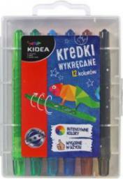 Derform Kredki Kidea wykręcane w etui 12 kolorów