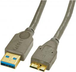 Kabel USB LINDY Micro USB B, 3m (31283)