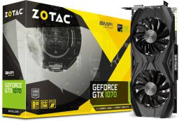 Karta graficzna Zotac GeForce GTX 1070 AMP! Core Edition 8GB GDDR5 (256 Bit) DVI-D, HDMI, 3xDisplayPort, BOX (ZT-P10700N-10P)