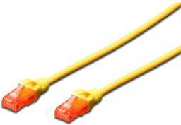 Digitus Patchcord U-UTP, Cat6, LSZH, 0.5m, żółty (DK-1617-005/Y)
