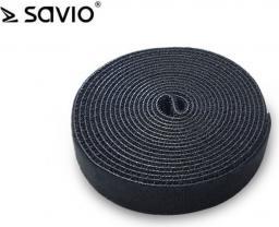Organizer Savio Rzep na kable 3m X20mm, czarny  (OC-02/B)