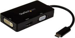 Adapter USB StarTech USB C - HDMI USB C - VGA USB C - DVI Czarny (CDPVGDVHDBP)