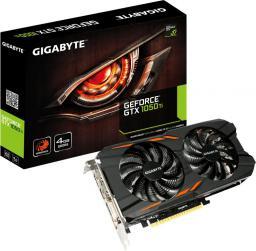 Karta graficzna Gigabyte GeForce GTX 1050 Ti WindForce 4GB GDDR5 (128 bit), DVI-D, 3xHDMI, DisplayPort, BOX (GV-N105TWF2-4GD)