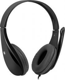 Słuchawki z mikrofonem Defender Aura 111 czarne (63111)