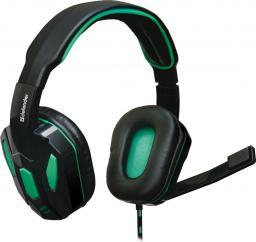 Słuchawki z mikrofonem Defender Warhead G-275 GAMING czarno-zielone (64122)