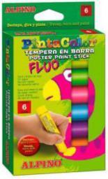 Alpino Farba plakatowa Fluo w sztyfcie 6 kolorów