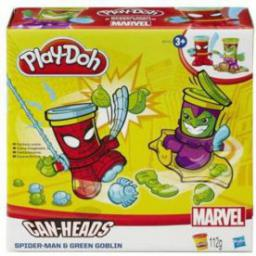 Hasbro Play-Doh Can Heads B0744 Spider Man & Green Goblin