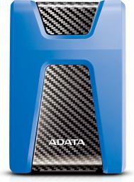 Dysk zewnętrzny ADATA DashDrive Durable HD650 2TB Niebieski (AHD650-2TU31-CBL)