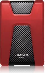 Dysk zewnętrzny ADATA DashDrive Durable HD650 2TB Czerwony (AHD650-2TU31-CRD)