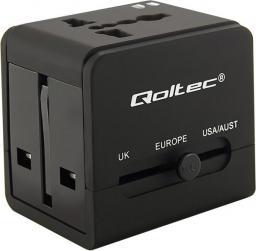 Qoltec Uniwersalny adapter podróżny 10.5W, 2xUSB (50133)